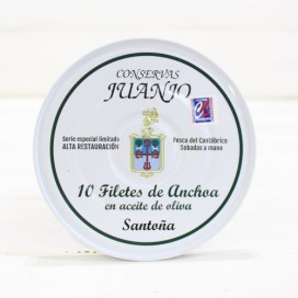 Anchovies of Santoña high restoration 10 fillets Canned Juanjo
