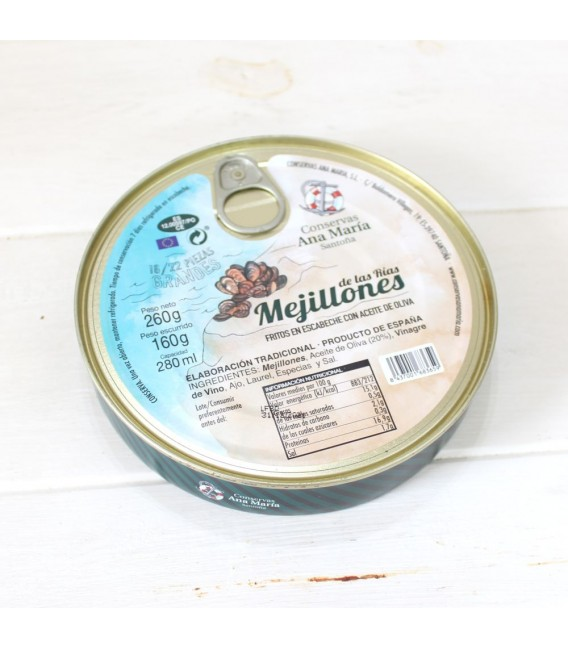 Mejillones Fritos en Escabeche 7/10 piezas 115 grs. Ana Maria