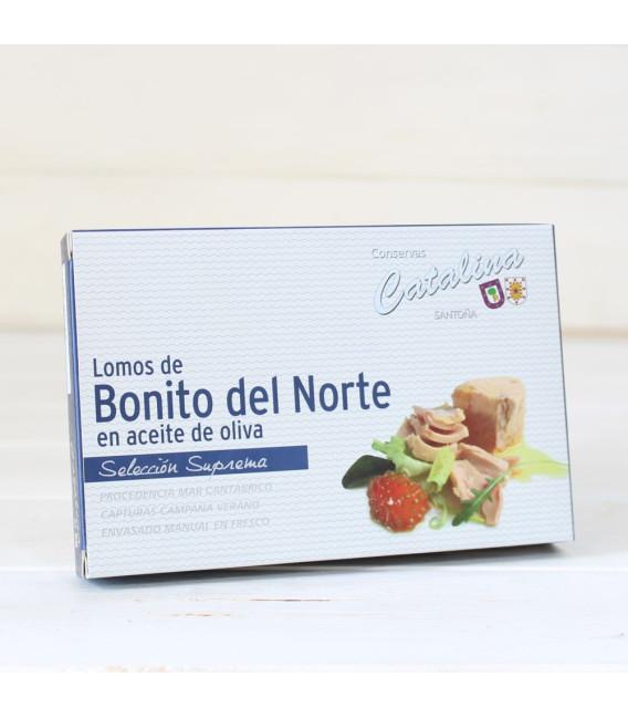 Bonito del norte, dans de l'huile d'olive 160 Grammes. Catherine