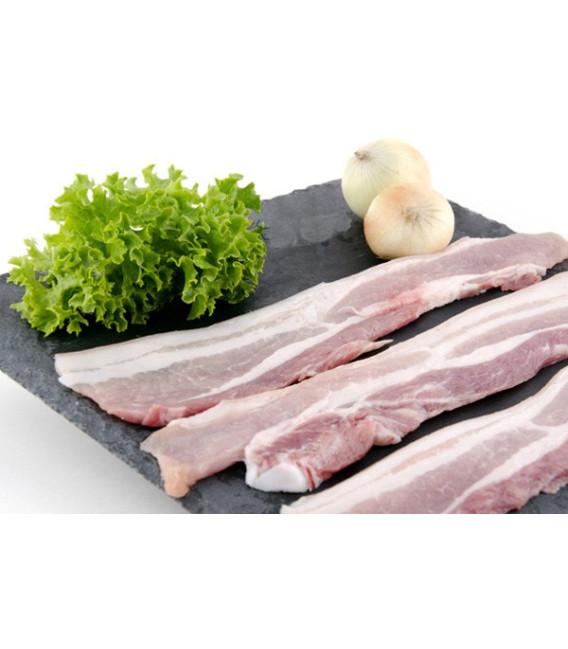 Panceta de cerdo fileteada para barbacoa