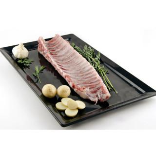 Streifen, rippe, schweinefleisch, besonderes grillen und braten