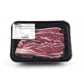Steak or strip roast of beef, special bbq, tray, 500 grams