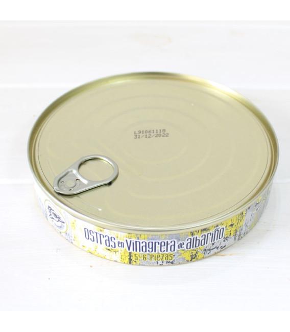 Ostras en vinagreta de albariño 6-8 piezas, 266 gr