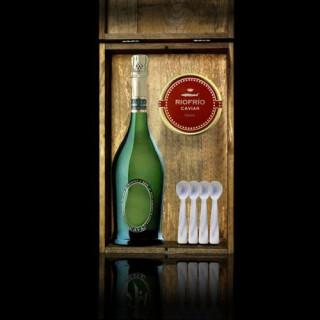 Etui Kaviar T. Classic 200grs, Sekt und 4 Teelöffel