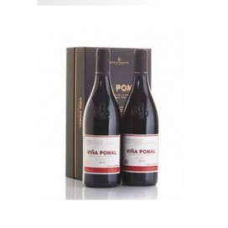 Case cardboard 2 bottles red wine Bodegas Bilbaínas Viña Pomal Reserva