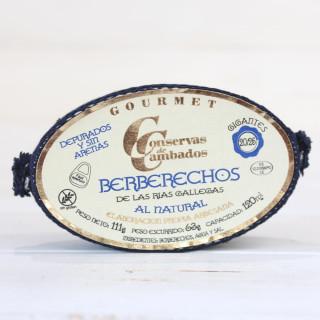 Berberechos de Galicia al Natural 20/25 Piezas 120 grs.