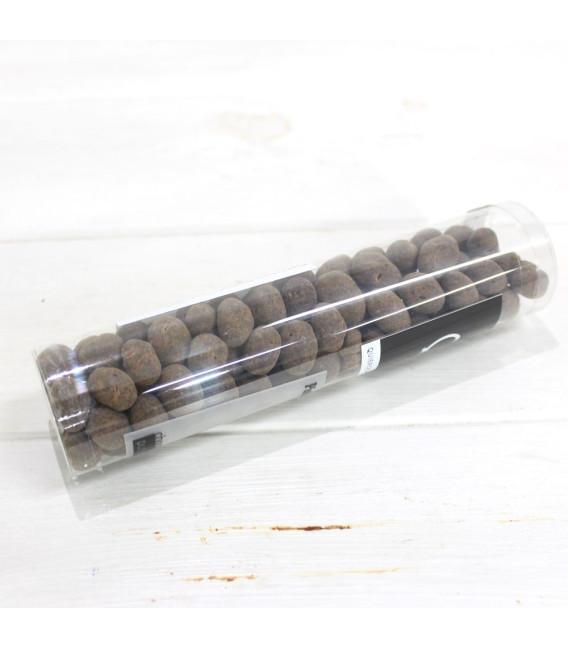 Pistachos bañados de chocolate puro al 70%, 110 grs