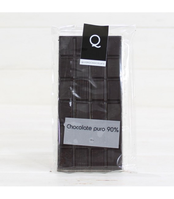 Tafel Schokolade rein Handwerkliche 90%, 120 grs