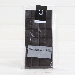 Tablette de Artisanale de Chocolat pur à 90%, 120 g