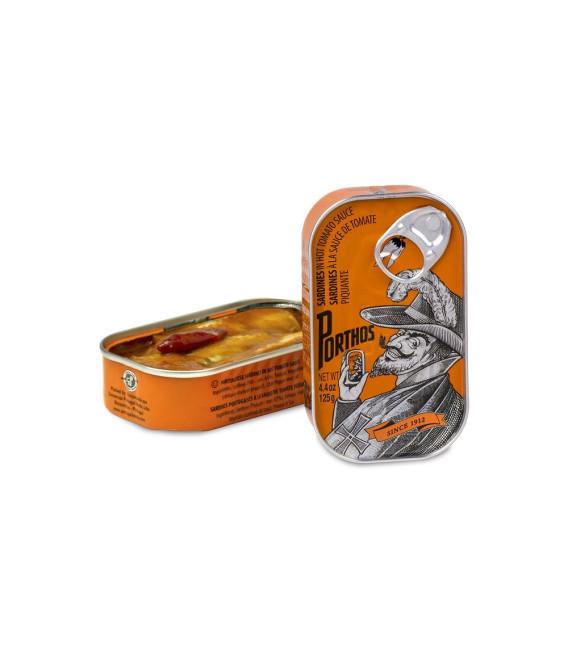 Sardinas con tomate picante, 125 grs