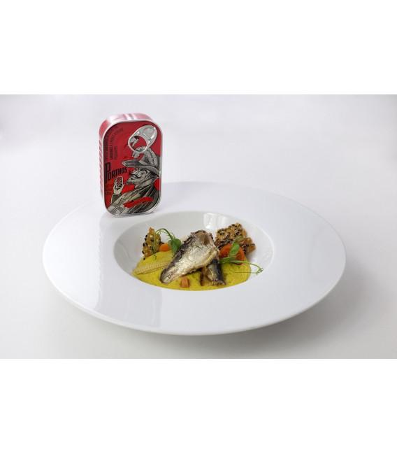 Sardinas en aceite de oliva picante, 125 grs