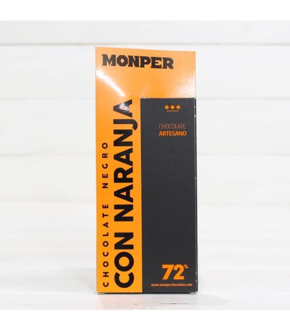 Tavoletta di Cioccolato Artigianale Nero con Arancio 85 grammi