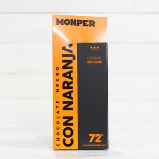 Tableta de Chocolate Artesanal Negro con Naranja 85 grs