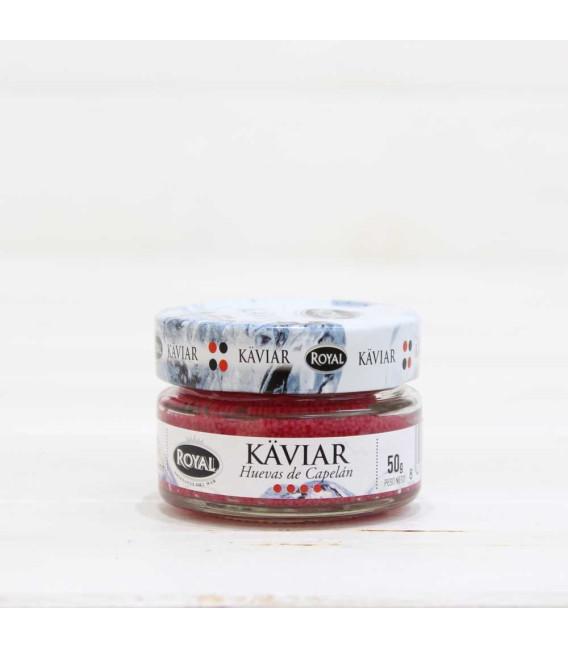 Caviar huevas de Capelán rojo 50 gr