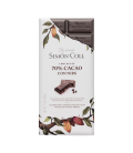Tablet Artisanal Chocolate 70% Cocoa with Nibs, 85 gr
