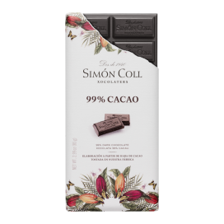 Tableta Chocolate Artesanal 99% cacao, 85 gr