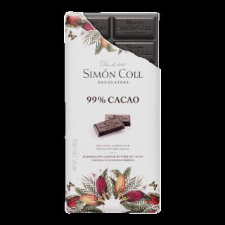 Tablette Artisanale de Chocolat 99% cacao, 85 gr
