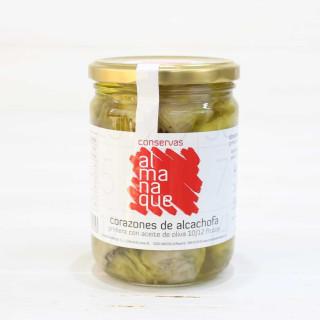 Les cœurs d'artichaut de 10 à 12 fruits dans de l'Huile d'Olive