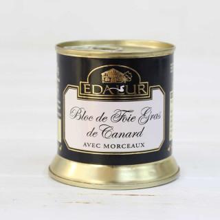 Bloc de Foie Gras de Canard avec morceaux de 30% , 200 grammes