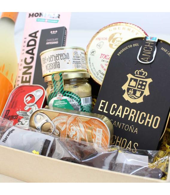 """Caja regalo Gourmet, San Valentín """"Pasión"""""""