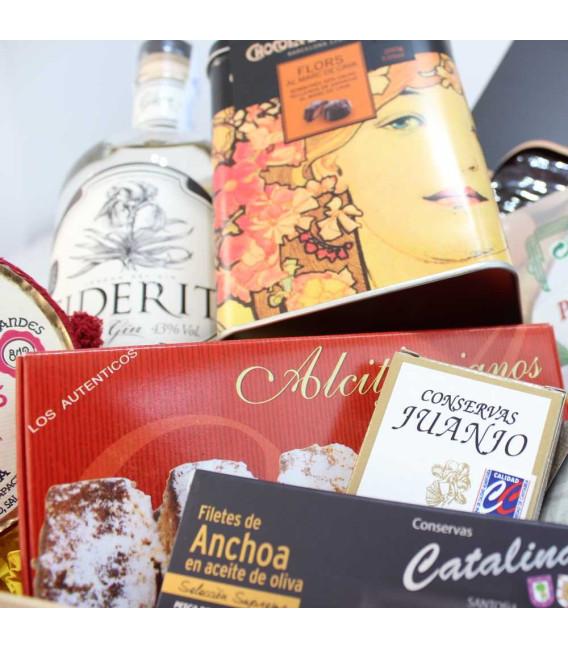 """Cesta Regalo Gourmet San Valentín """"Pasión Gourmet"""""""