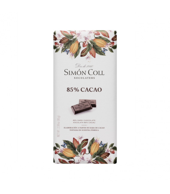 Tablet of Artisanal Chocolate pure to 90%, 120 g