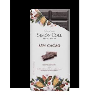 Tableta chocolate artesanal 85% cacao, 85 gr