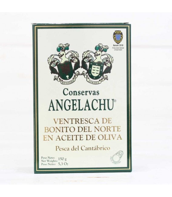 Ventresca de bonito del Cantábrico, oliva 180 grs. Angelachu