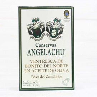 Ventresca de bonito del Cantábrico, oliva 150 grs. Angelachu