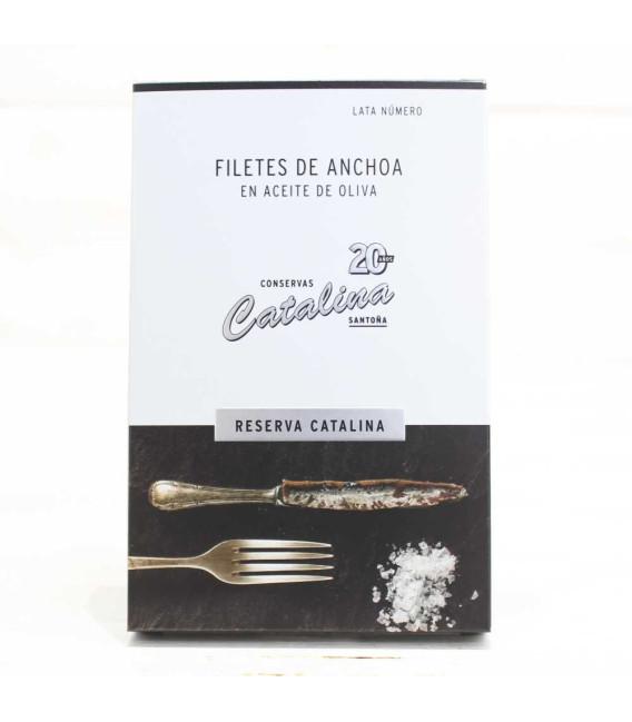 """Anchoas de Santoña en Aceite de Oliva """"Reserva Catalina"""""""