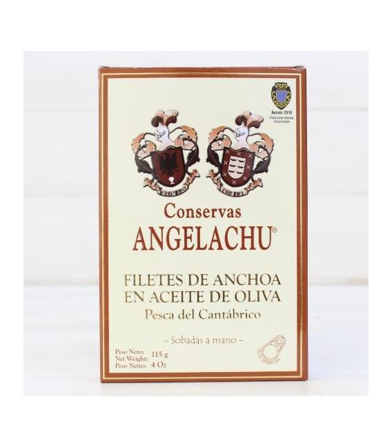 Regalo Queso de Vaca Tierno con Pack 12 Latas Anchoas Angelachu