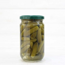 Jar of Extra Fine Pickled Gherkins 300 grs