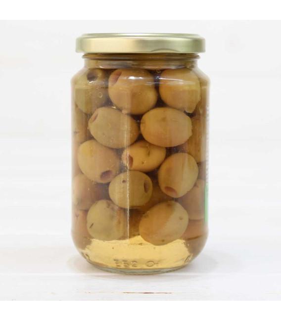 Tarro de Aceitunas Aloreñas Aliñada sin Hueso 170 grs