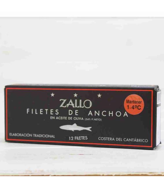 Anchoas del Cantábrico Alta Restautación Premium extra Grandes 12 filetes, 130 grs Zallo