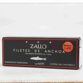 Anchovies of the Cantabrian High Restoration Premium extra Large 12 fillets, 130 grams Zallo