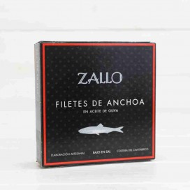 Cantabrian anchovies in Olive Oil selection of premium 26 fillets, 165 grams Zallo