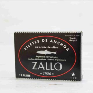 Acciughe del cantabrico in Olio di Oliva selezione premium di 10/12 filetti,85 g di Zallo