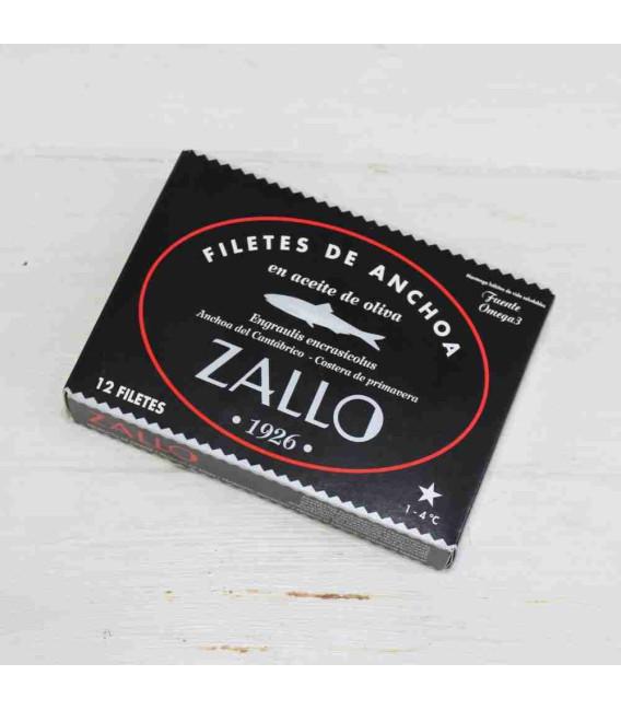 Anchoas del Cantábrico en Aceite de Oliva selección premium 12 filetes,85 grs Zallo