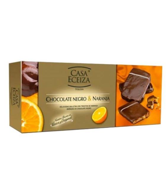 Schokolade kekse Schwarz und Orange 100g