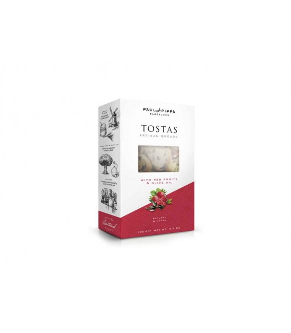 Toasted bread Artisans With Red Berries 100 grams