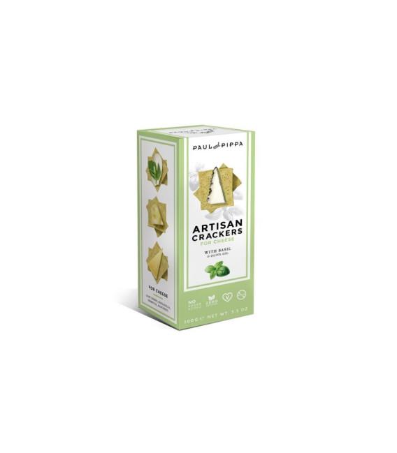 Crackers Artigianali di Basilico 100 grammi