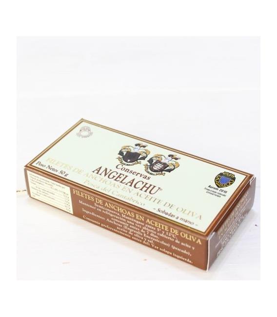 Anchois de Santoña dans l'Huile d'Olive 50g Angelachu