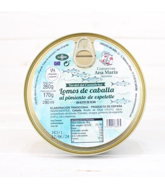 Makrelenlenden mit Espelette-Pfeffer, 260 Grs. Ana Maria
