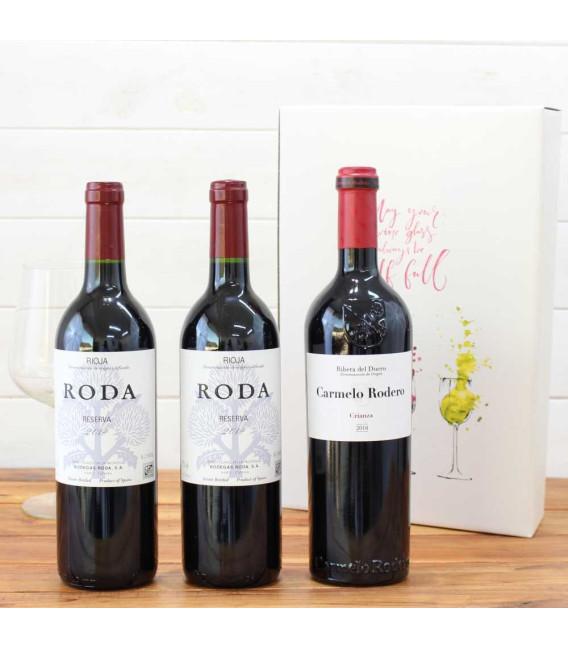 Case Wooden 3 bottles Ramón Bilbao reserva