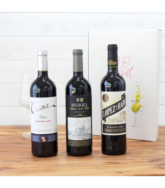 Estuche Regalo 3 Botellas de Vino nº7