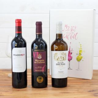 Cas en Bois de 3 bouteilles de Ramón Bilbao reserva