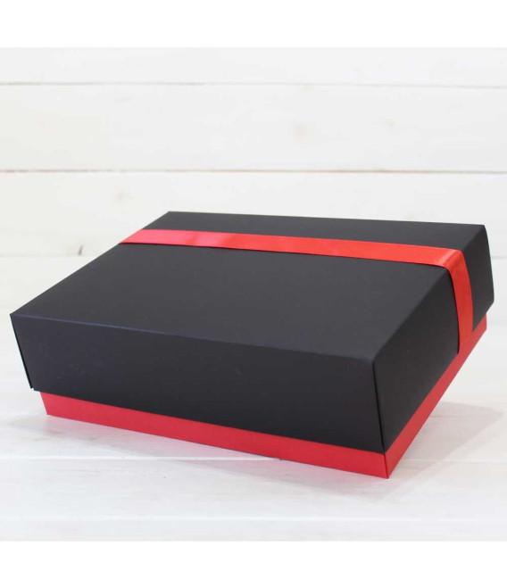 """Caja Roja Deluxe Cartón """"Bocaditos Delicatessen"""""""