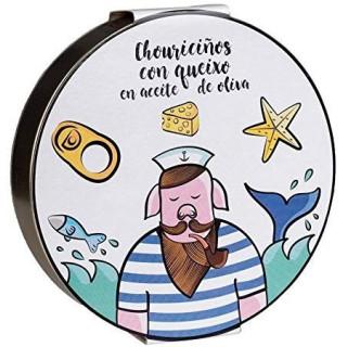 Chouriciños con Queso en Aceite de Oliva, 240 grs