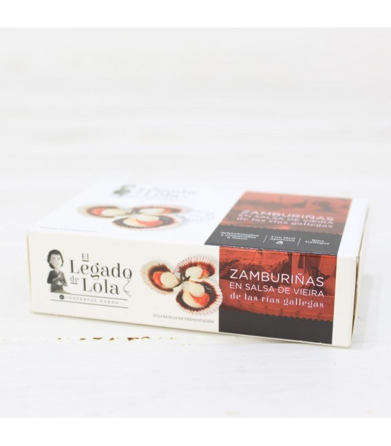 Zamburiñas en salsa vieira de las rías gallegas 115 grs, L.Lola