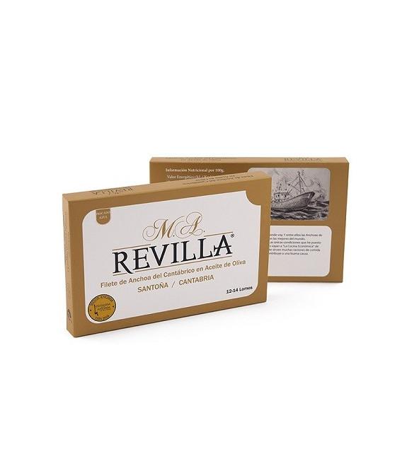 Anchoas de Santoña Alta Restauración Serie Oro, 12-14 Filetes, M.A.Revilla